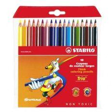 Pastelky STABILO Trio pastelky 18 kusové 203/18