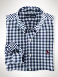 Polo Ralph Lauren Custom Fit Gingham Shirt Navy white