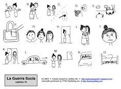 Teaching Spanish w/ Comprehensible Input: La Guerra Sucia - 2 graphic organizers