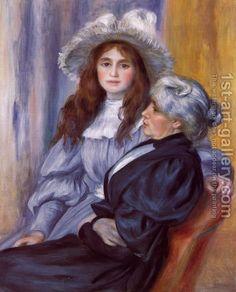 Berthe Morisot and Her Daughter Julie Manet, By Pierre Auguste Renoir