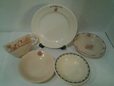 Mixed Lot Vintage Restaurant Ware Desert Inca Ware Old Glory