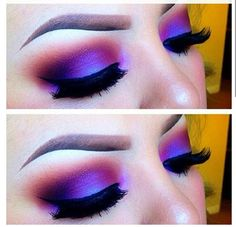 Oohhh aaahhh. Loving these colors of purple. The eyeliner looks gorg too. This is a perfect look for a holiday party. #eyemakeup #Christmas #party