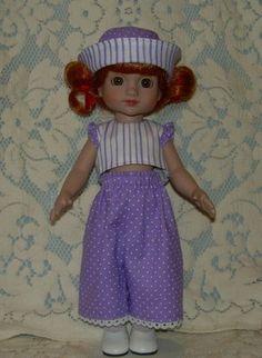 "Tonner Patsy or Ann Estelle Outfit ""Lavender Stripes & Dots"""