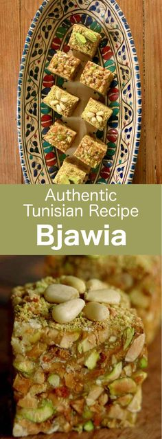 Bjawia is a Tunisian dessert that is prepared with roasted dried fruits which deliver all their aromas in a soft syrup to form a divine bites-size pastry filled with pistachios. #Tunisia #Tunisian #TunisianCuisine #TunisianRecipe #NorthAfricanCuisine #NorthAfricanRecipe #NorthAfrica #Maghreb #MaghrebCuisine #Pastry #Dessert #WorldCuisine #196flavors