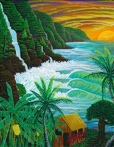 End of the Road - Hawaiian artwork by Kauai artist Moses Hamilton