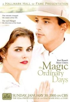 The Magic of Ordinary Days is a Hallmark Hall of Fame production based on a novel of the same name by Ann Howard Creel and adapted as a teleplay by Camille Thomasson. It was directed by Brent Shields, produced by Andrew Gottlieb and stars Keri Russell, Skeet Ulrich, and Mare Winningham. The film aired on CBS on Jan. 30, 2005. Brief Synopsis: Pregnant out of wedlock, an educated young woman is pressured by her father into an arranged marriage with a lonely farmer in this drama set during…