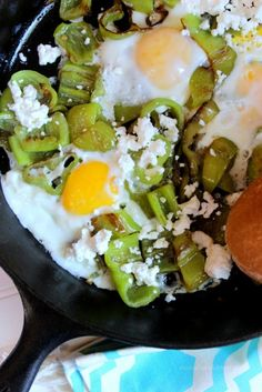 Cubanelle Peppers with Eggs