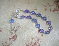Iris Pocket Prayer Beads: Greek Goddess of the Rainbow, Messenger of the Gods by HearthfireHandworks on Etsy