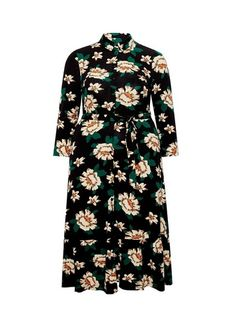 Wearing Length Is Viscose, Elastane.Model Is And Wears A Size Floral Shirt Dress, Floral Print Shirt, Floral Prints, Uk Shop, Printed Shirts, High Neck Dress, Colour, Model, How To Wear