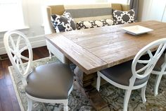 white wood dining table - Google Search