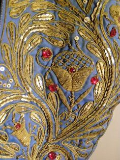 Matador's Jacket. Embroidered. Madrid. Gold Bullion. Threads Magazine