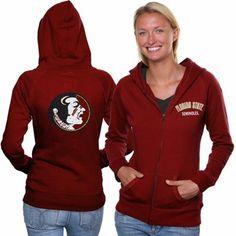 Florida State Seminoles (FSU) Ladies Vegas Full Zip Hoodie - Garnet