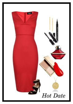 """Hot Date"" by patricia-dimmick ❤ liked on Polyvore featuring Clarins, Burberry, Guerlain, Dsquared2, Carvela, Chanel, Lana and DateNight"