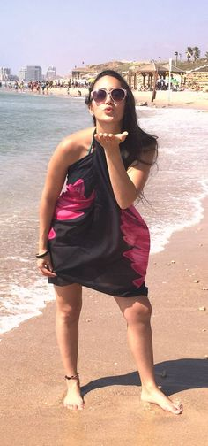 Plus Size Boardwalk Bathing Beach Beauties Tie On Dog Collar Bandana