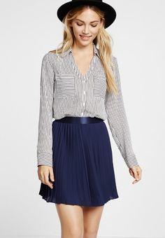 5fbb6fd4ad6f Slim Fit Black And White Striped Portofino Shirt  59.90