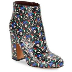 Marc Jacobs Cora Floral Leather Ankle Boots