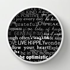 Inspirational Words Wall Clock by Zen and Chic - $30.00