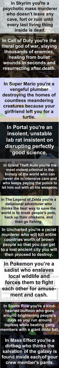 Les jeux vidéo.