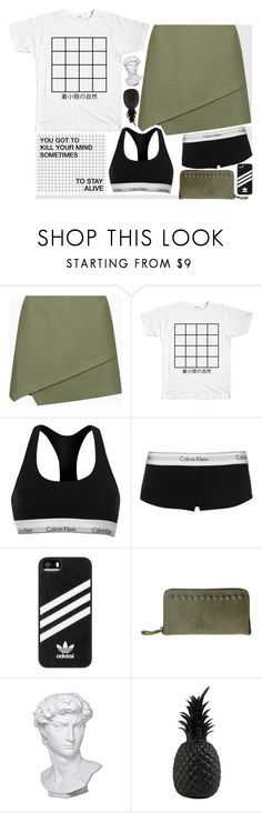 """you got to kill your mind sometimes to stay alive"" by worthwhile ❤ liked on Polyvore featuring Topshop, Calvin Klein, adidas, Eichholtz and Pols Potten"