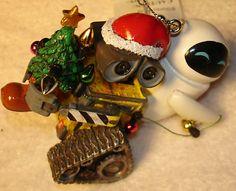 WALT DISNEY CHRISTMAS ORNAMENT WALL-E EVE LIGHTS TREE
