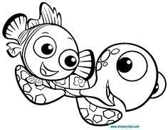 finding nemo coloring pages sketch coloring page - Crush Finding Nemo Coloring Pages
