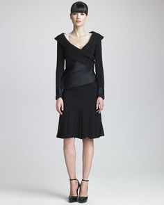 Stretch Crepe Flounce Skirt by Donna Karan at Neiman Marcus Last Call.