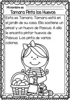 Easy Readings for Reading Comprehension in Spanish - Easter Spanish Teaching Resources, Spanish Lessons, Learn Spanish, Learn French, Spanish Teacher, Spanish Classroom, Learning Sight Words, Reading Anchor Charts, 2nd Grade Reading
