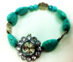 Hey, I found this really awesome Etsy listing at https://www.etsy.com/listing/197114926/unique-womens-watchbeaded-watchgemstone