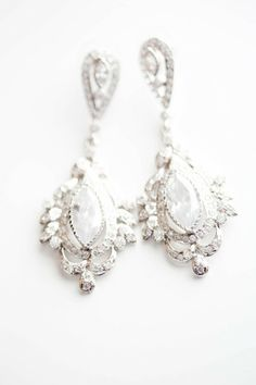 .Beautiful earrings fit for a bride