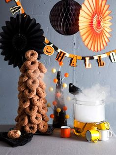 A donut tree! Perfect for any party! Learn how to make one here!