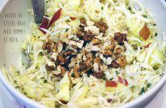 Salade de céleri-rave aux pommes et noix. La recette ici : http://journalduneame.fr/salade-de-celeri-rave-aux-pommes-et-noix/