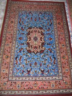 Persian Silk Rug Iran Qum by lachinoise on Etsy, $2400.00