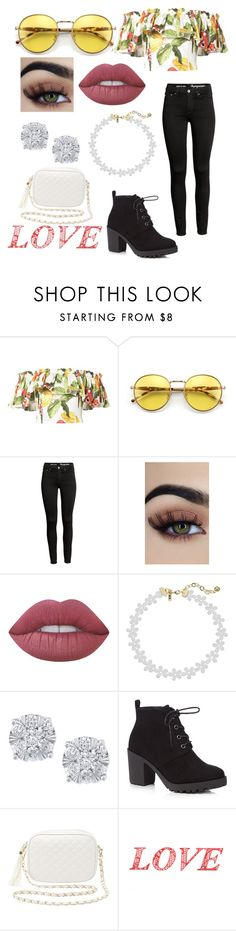 """""""Untitled #389"""" by styleislife12 ❤ liked on Polyvore featuring Isolda, Wildfox, Lime Crime, Vanessa Mooney, Effy Jewelry, Red Herring, Charlotte Russe, WALL and valentinesday"""