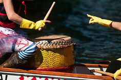 Cheering spectators and thumping drums rocked the shores of Flathead Lake for the third annual Montana Dragon Boat Festival. Montana, Flathead Lake, Dragon Boat Festival, Racing, Paddles, Riveting, Colour, Nice, Photos