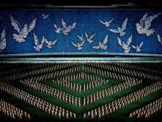 Andreas Gursky – Pyongyang II, Diptychon, c-print, 207 x each Andreas Gursky, Types Of Photography, Art Photography, Mass Games, Berlin, Flip Cards, Human Art, Documentary Photography, North Korea