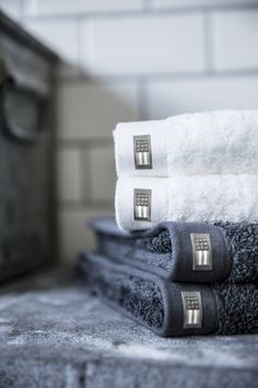 Terry Towels in gray and white. Urban Collective, Lexington Company