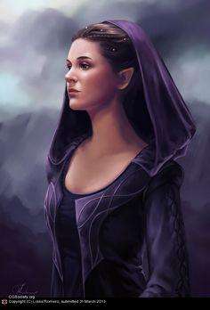 Half elf sorceress by Loles Romero | 2D | CGSociety