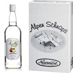 Alpenschnaps Steinbeisser Haselnuss 3 Flaschen a 1 Liter 33 % Spirituose Nannerl