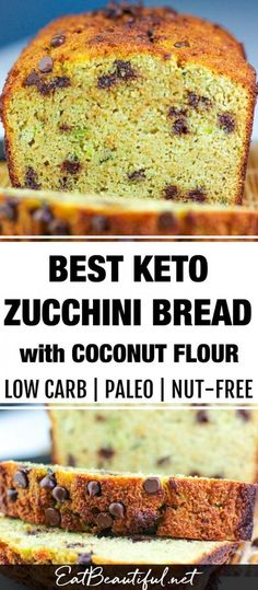 This Best Keto Zucchini Bread with coconut flour is the perfect recipe for all the abundant zucchini you may have on hand. Paleo, gluten-free and nut-free, you'll love this fast recipe and the delicious texture of the bread.   Eat Beautiful    #zucchini #bread #keto #lowcarb #paleo #nutfree #coconutflour Coconut Flour Bread, Zucchini Bread, Nut Free, Best Bread Recipe, Bread Recipes, Whole Food Recipes, Perfect Food, Keto, Low Carb Breakfast