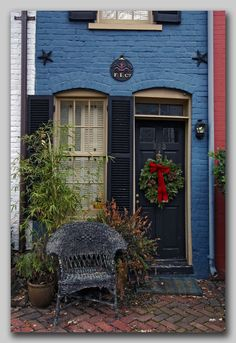 """The """"six foot house"""" in Old Town Alexandria, VA. It was built, if memory serves, to fill in a noisy alley. Love this home! It's ultra tiny, but very sweet. :)"""