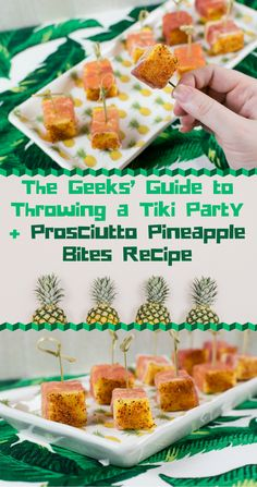 Tiki Party | Tiki Recipes | Tiki | The Geeks have gathered tips and recipes to throw the perfect Tiki Party. Recipes will include both food and drinks that fit the tropical bill. 2geekswhoeat.com