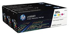 #4: HP 305A (CF370AM) Cyan Magenta & Yellow Original LaserJet Toner Cartridges 3 pack HP CF370AM Original LaserJet Cartridges is a great pick from the top items sold online in Office Products  category in USA. Click below to see its Availability and Price in YOUR country.