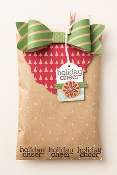 Step up your gift wrap with the stamps and Big Shot dies from Stampin' Up!
