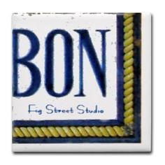 Bourbon St Mural 318 Tile Coaster on CafePress.com