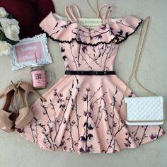 Vestido Larissa No Neoprene C/ BOJO /Sianinha( Estampa  Algodão)