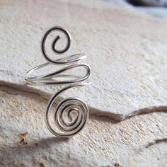 anel em fio de prata importado