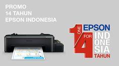 Yuk ikutan promo 14 tahun Epson Indonesia, menangkan hadiah printer Epson L120, 14 tas ransel dan 14 t-shirt keren.