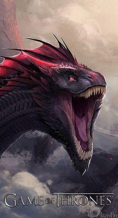 IrenBee Fantasy Dragon, Fantasy Art, Fantasy Creatures, Mythical Creatures, Fantasy Beasts, Beautiful Dragon, Cool Dragons, Dragon Artwork, Game Of Thrones Art