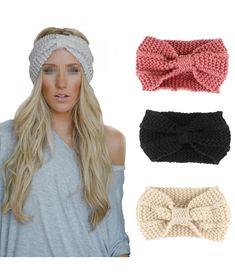 #Womens#Bowknot#Design#Winter#Warm#Twist#Knitted#Wool#Headgear#Crochet#Headband#Head#Wrap#Hairband#Navy#Blue#CT187XSK6TE | Women's Bowknot Design Winter Warm Twist Knitted Wool Headgear Crochet Headband Head Wrap Hairband(Navy Blue) - CT187XSK6TE Winter Headbands, Turban Headbands, Knitted Headband, Headbands For Women, Ear Warmer Headband, Head Wrap Headband, Headband Hair, Bow Hairband, Knitting Accessories