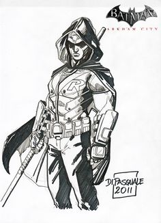 batman arkham city robin coloring pages